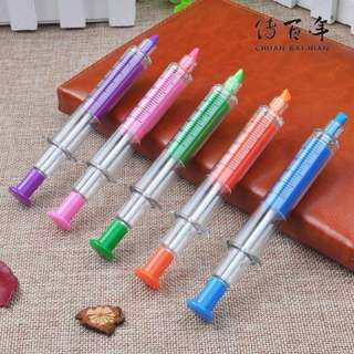 8pcs Syringe 2in1 ballpen & marker