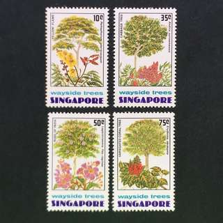 Singapore 1976 Wayside Trees full set of 4v MnH