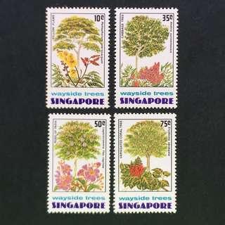 Singapore 1976 Wayside Trees full set of 4v MnH