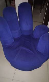 BLUE hand-shaped couch