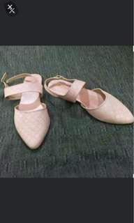 Flatshoes Soft Pink no heels