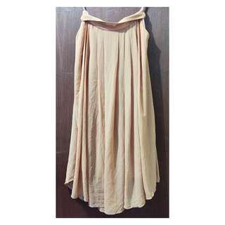 CREAM LONG SKIRT