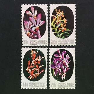 Singapore 1976 Orchids full set of 4v MnH