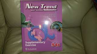 中大出版New Trend senior Secondary Mathematics, S4B, chapter 7 to 12, (未做過),屯門交收