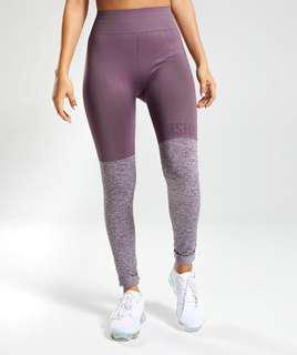 Gymshark TwoTone Seamless Gym Leggings Purple Wash in Size S