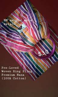 Nana Baby Carrier Ring Sling