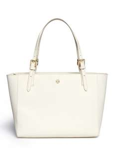 (On hold) 只有一個!Tory Burch 'YORK' SMALL LEATHER BUCKLE TOTE in white