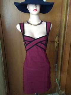 Bandage dress chic simple maroon