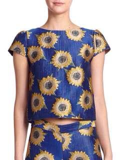 Alice + Olivia Sunflower Top 太陽花藍色上衣