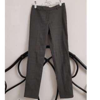 Grey fine patterned dressy pants