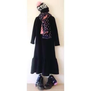 *NEW* Girls Fleece inner maxi dress size 9