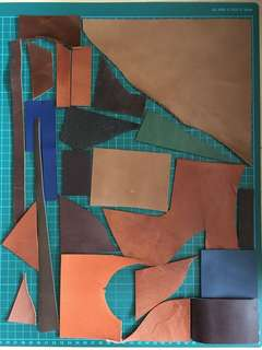 20 pcs leather scraps