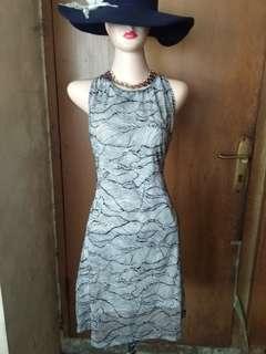 Stripe mini dress sleeveless