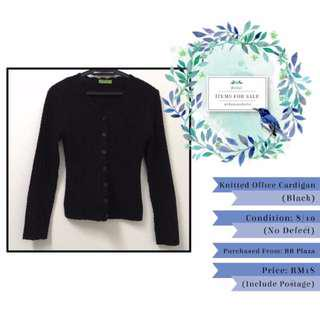 Items to Sell: Knitted Office Cardigan (Black)