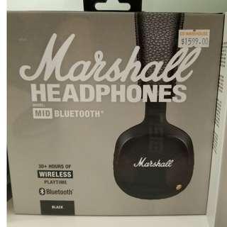 Brand New Marshall headphones speakers 全新 藍牙喇叭 藍牙耳機