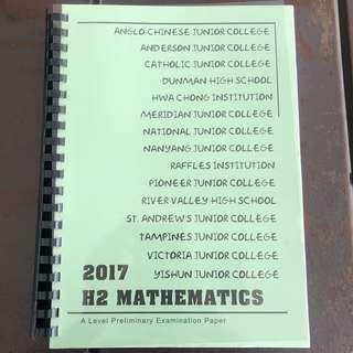H2 Math 2017 Prelim Papers