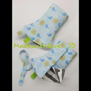 Padded corner drool pad / teething pad  for baby carrier