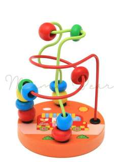 Baby Puzzle Beads Wooden Ring Around Maze Toddler Eductional Toy