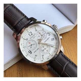 瑞士品牌 Tissot Watch 經典天梭 T17系列 石英男錶 男士 真皮 手錶 腕錶 42mm (WT28-600)