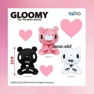 日版暴力熊公仔♡BIG❢日本限定 Taito/Gloomy bear/grizzly/血粉熊/血腥熊/殺人熊/plush/soft toy/kids doll