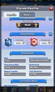 PB 5.6k Clash Royale Account
