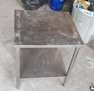 Stainless steel low table
