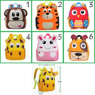 Baby Toddler Kid Backpack Preschool Bag Cute Animal Design