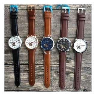 美國品牌 Fossil Watch ME3110 真皮 5色 小牛皮 錶帶 男女合用 手錶 腕錶 原盒包裝 (WT34-580)