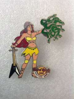 Hard Rock Cafe Pins - BOSTON HOT 2008 GREEK MYTHOLOGY GIRL SERIES # 2 (ATHENA)!