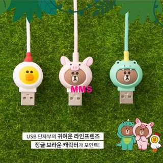 韓國直送 Line Brown 熊大 Sally Lightning 充電線 傳輸線 數據線 1M