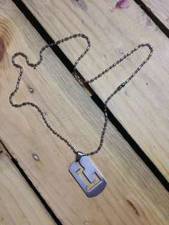 L Pendant Necklace