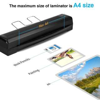 363 (Brand New) Laminator TOQIBO Laminator A4 A5 Laminating Machine 2 rollers with 250mm/min Quick Warm-up Laminating Speed, 240mm A4 Max Width for Document/Photo/Hand Card