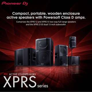For RENT: Pioneer XPRS Speakers with Powersoft Amps Pro Audio Speaker System