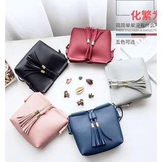 Korean Tassel Leather Bag Sling Bag Casual Mini Shoulder Bag
