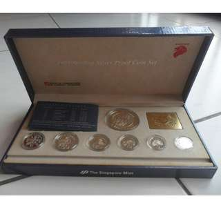 1991 Singapore Silver Proof Coin Set (1¢ - $5 Coin)