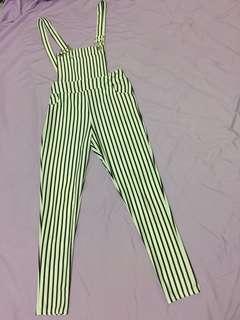 jumsuit / overall stripe