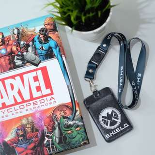 CUSTOM ID CARDHOLDER LANYARD agents of shield black panther