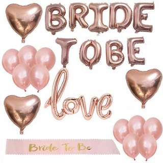 BN: bride to be hen night party balloons/ prop