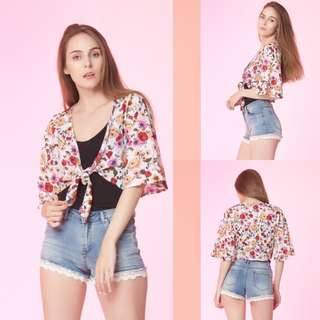 VL6138 New miss valley white floral outer top