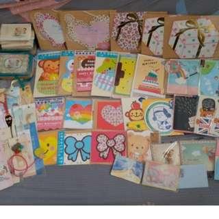 書簽、生日咭 一大堆 Birthday Card and Book Marks All Together