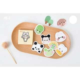 Cute animal's emoticon sticker set 45 pcs