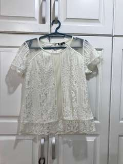 Overrun Off White Blouse with Stain size S