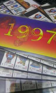 1997 香港郵票套摺共20套合售