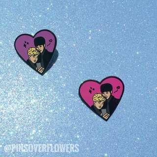 🚚 Jikook Heart' Enamel Pin