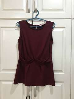 CLN Deep Red Blouse size S