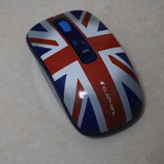 [全新 NEW] 藍芽滑鼠 大笨象牌 英國國旗 Wireless Bluetooth Mouse ELEPHANT with beautiful UK Flag outlook