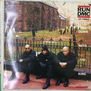 """Run dmc - down with the king 12"""" lp"""