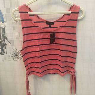 Topshop striped sleeveless top