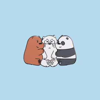 🚚 We Bare Bears Hug Pin
