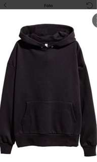 DIV by h&m Oversized hooded sweatshirt. Black SIZE XS